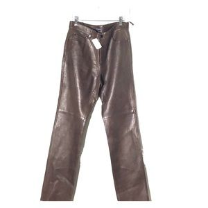 NWT Ralph Lauren Butter Soft leather pant firm!